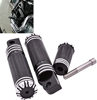 NATGIC - Reposapiés para Motocicleta CNC de Aluminio Negro + Palanca de Cambios para Harley Sportster XL 1200 883 Custom