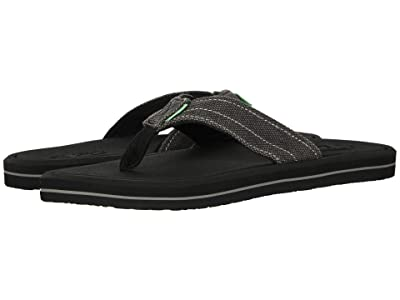 Sanuk Drop-In Tx (Washed Black) Men