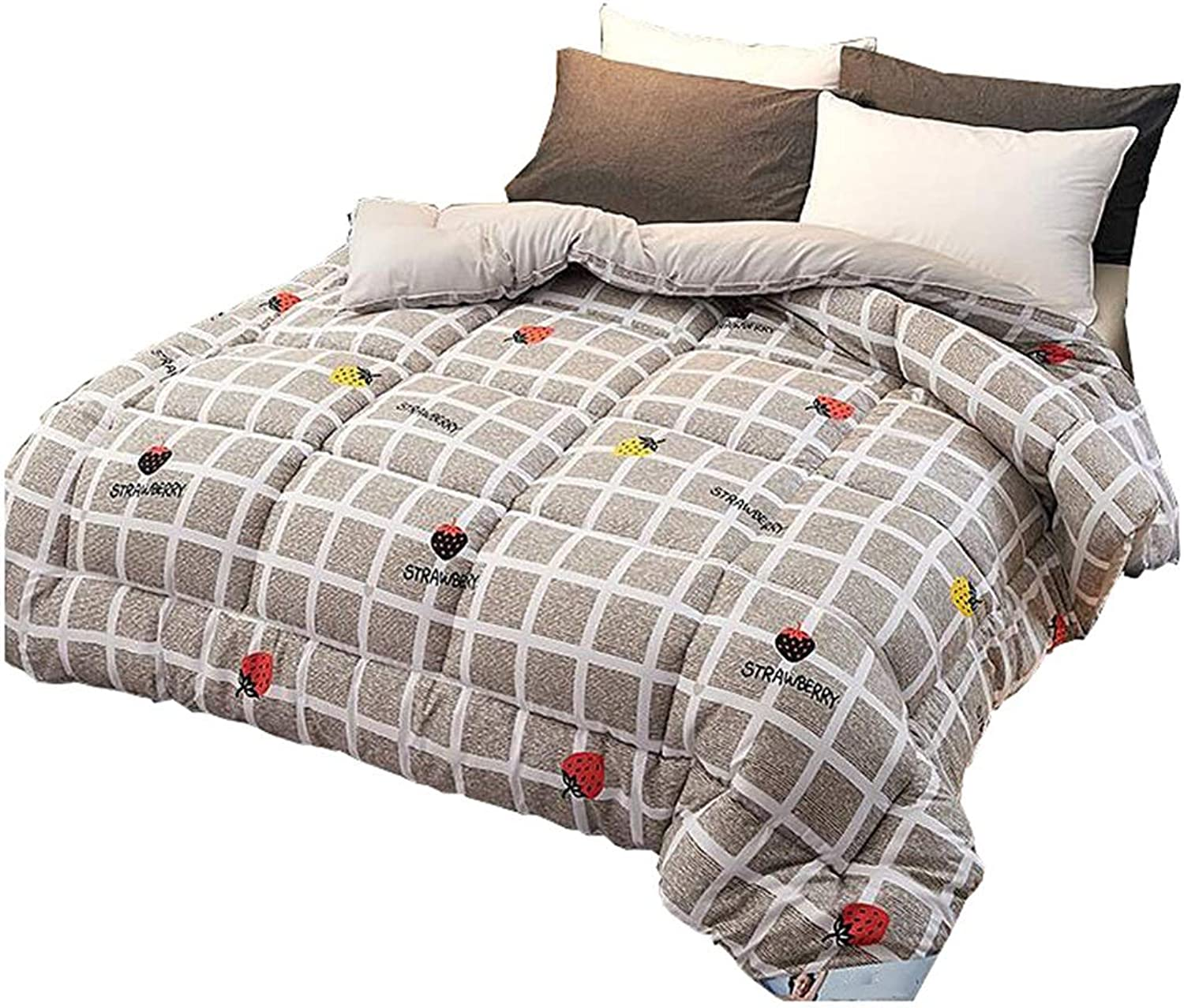 Quilt Thicken Warm and Soft for All Season All-Season Quilted Comforte Rhypoallergenic 100% Cotton Fabrics Quilted Comforter with Corner Tabs (Size   180cmx220cm3kg)
