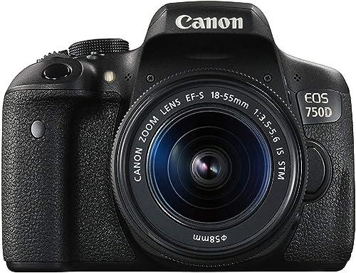 Canon EOS 750D 24.2MP Digital SLR Camera (Black) + 18-55 is STM Lens + Memory Card + Carry Bag product image