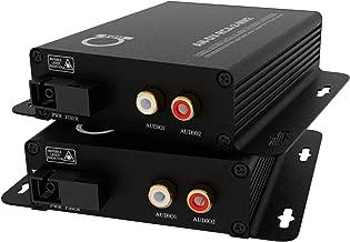 Multimode RCA Audio Over Fiber Converter | Extender Kit: 2 Channel Audio to Fiber MM Optical Media Converter Balun - 2 x RCA Audio Ports Over Fiber Optical Media Converter, Transmitter & Receiver