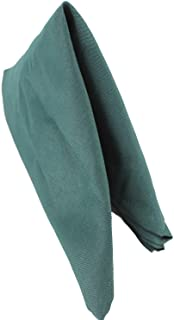 Servilletas de algodón de poliéster para boda, cumpleaños, fiesta, banquetes, recepciones, eventos de lujo de Gala, 50 cm x 50 cm, de la marca Trimming Shop, verde oscuro, 10