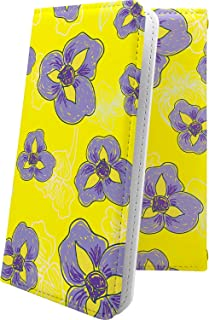 ELUGA P P-03E ケース 手帳型 花柄 花 フラワー パンジー エルーガ 和柄 和風 日本 japan 和 elugap p03e おしゃれ