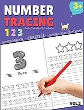 Number Tracing Book for Preschoolers: Number Tracing Book for Preschoolers, Number tracing books for kids ages 3-5, Number tracing workbook, Number Writing Practice Book (Volume 2)