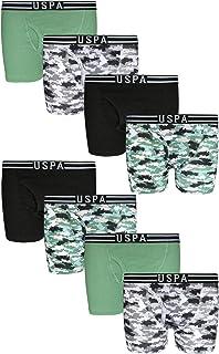 U.S. Polo Assn. Boys' Cotton Underwear Boxer Briefs (8 Pack)