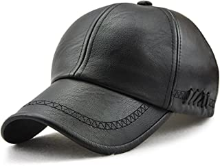 King Star Men's PU Leather Adjustable Winter Warm Baseball Cap Dad Hat