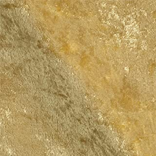 Ben Textiles Stretch Panne Velvet Velour Soft Fabric, Gold, Fabric by the yard