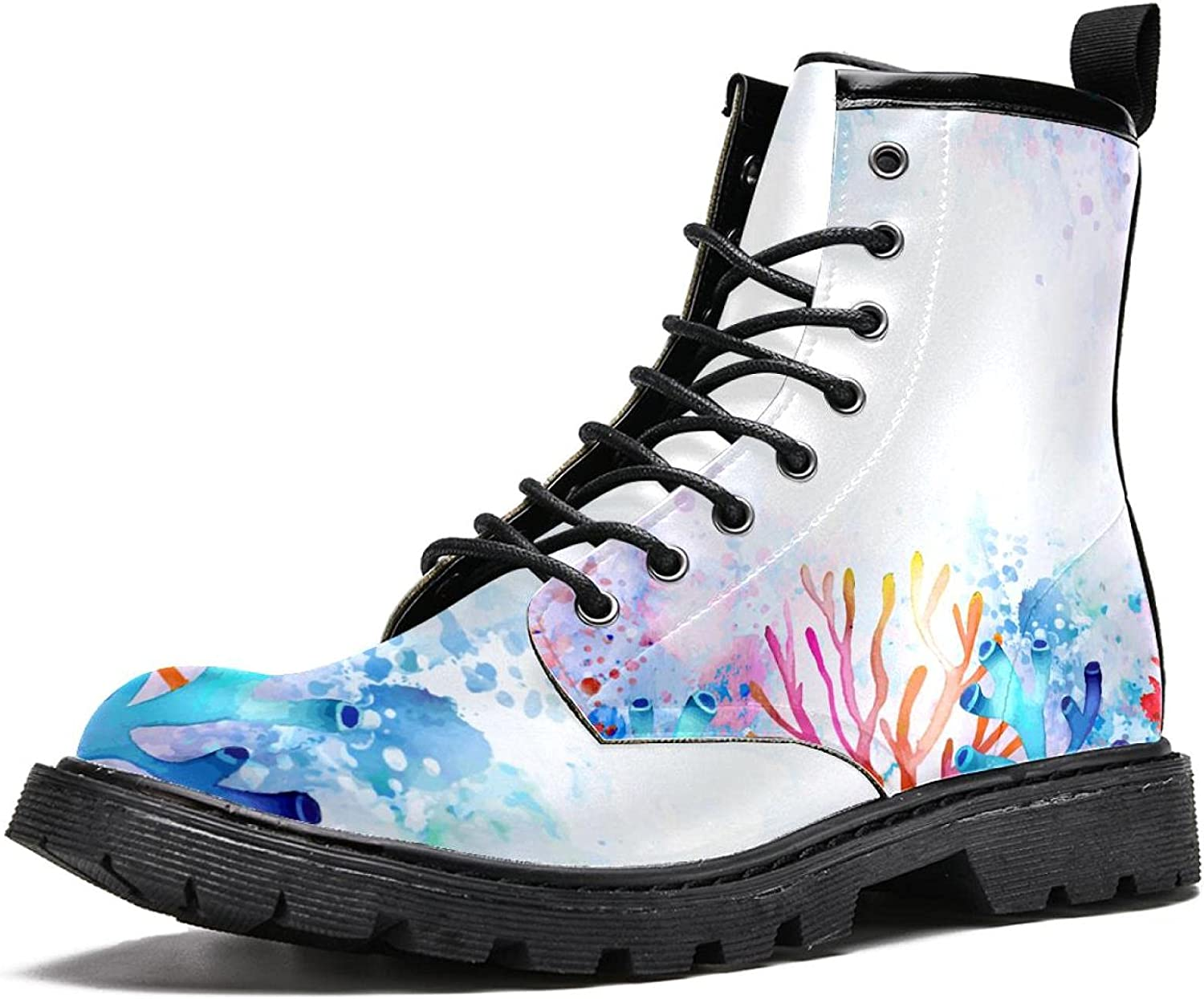 MAPOLO Cheap SALE Start New product! New type Boots for Women Watercolor Colorful W Print Coral Fashion