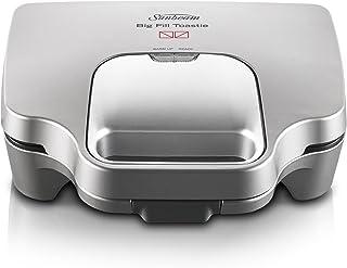 Sunbeam GR6250 Big Fill Toastie Maker   2 Up Sandwich Toaster   Non-Stick Plates   Silver