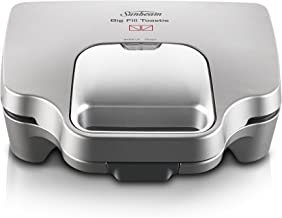 Sunbeam GR6250 Big Fill Toastie Maker | 2 Up Sandwich Toaster | Non-Stick Plates | Silver
