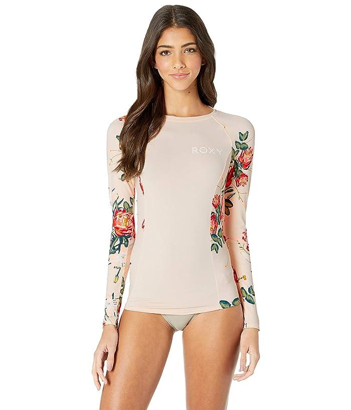 Roxy Long Sleeve Fashion Rashguard (Cloud Pink Garden Lily) Women