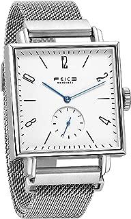 Unisex Square Watch Men's Bauhaus Automatic Watch Mechanical Watches Analog Wristwatch -Sapphire Mirror -34mm Case (FM301)