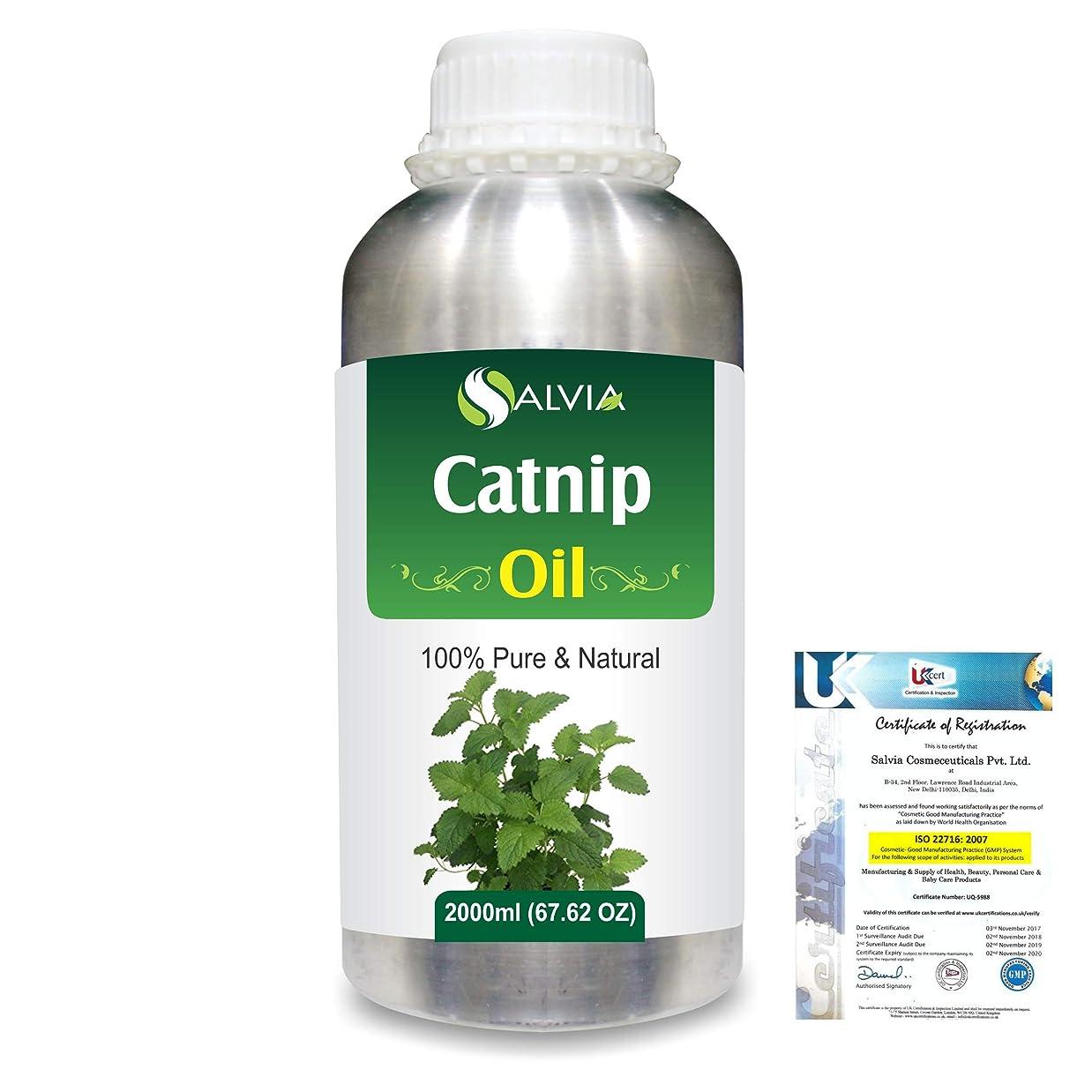 カーテン手数料告白Catnip (Nepeta cataria) 100% Natural Pure Essential Oil 2000ml/67 fl.oz.