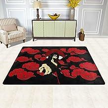 Easy to Clean Ultra Soft Area Rug, Modern Rectangle Carpets Decor Mats, Naruto Itachi Uchiha, Non Slip Bathroom Mats, Area...