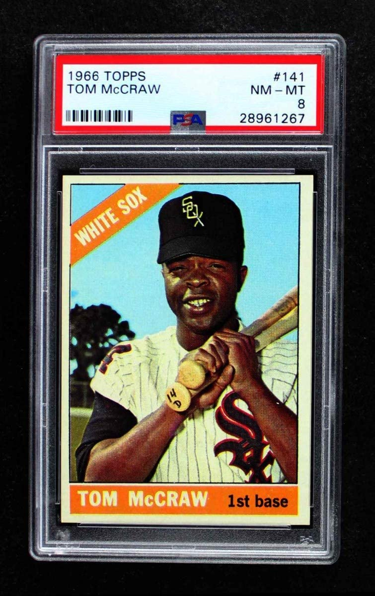 1966 El Paso Mall Topps # 141 Tom Elegant McCraw Chicago White Baseball Sox Card PS