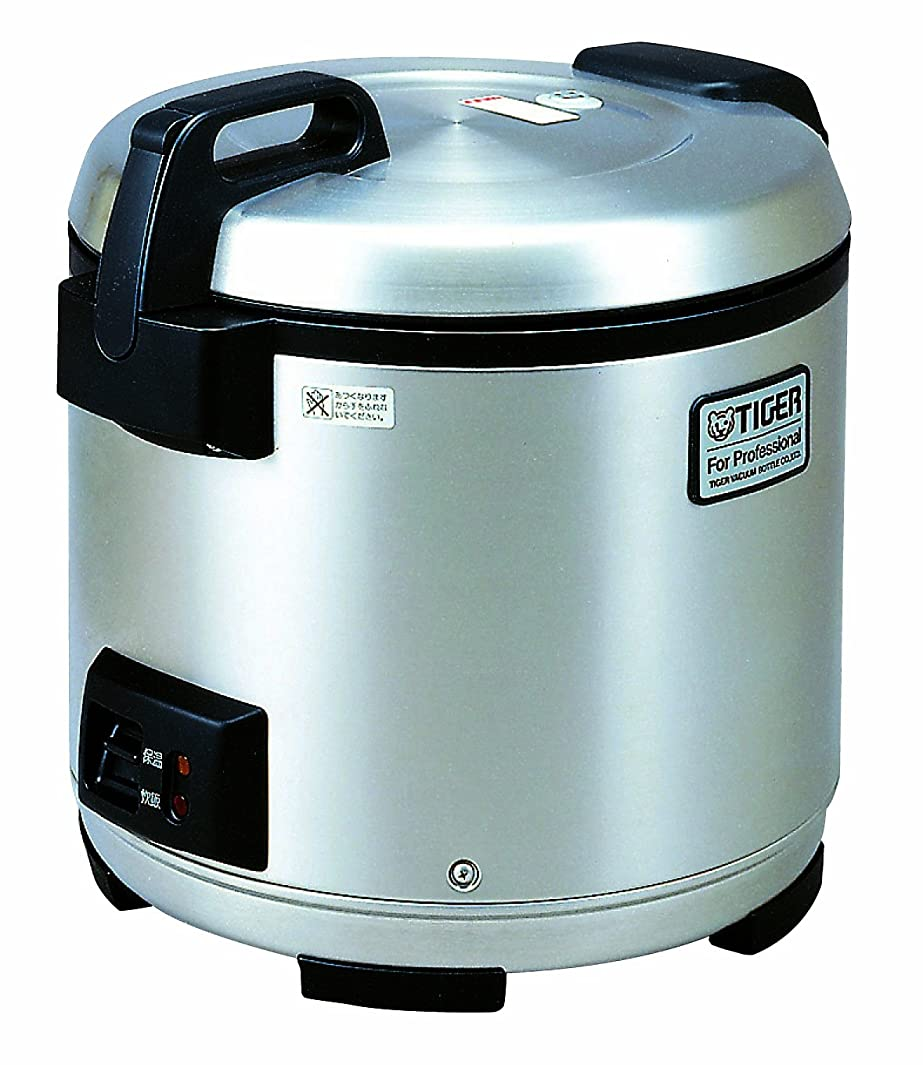 Tiger JNO-A36U-XB 20-Cup (Uncooked) Commercial Rice Cooker and Warmer, Stainless Steel Black