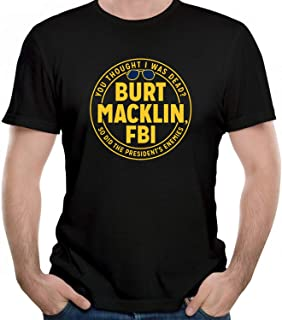 470aa4865 Chjzj Burt Macklin, FBI Graphic Tee Men T Shirt Short Sleeve