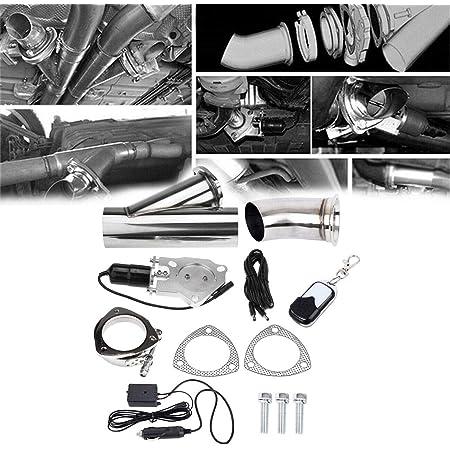 Kit de commande /électrique de syst/ème de soupape de coupure de tuyau de descente de catback d/échappement double de 2,5 63 mm EU