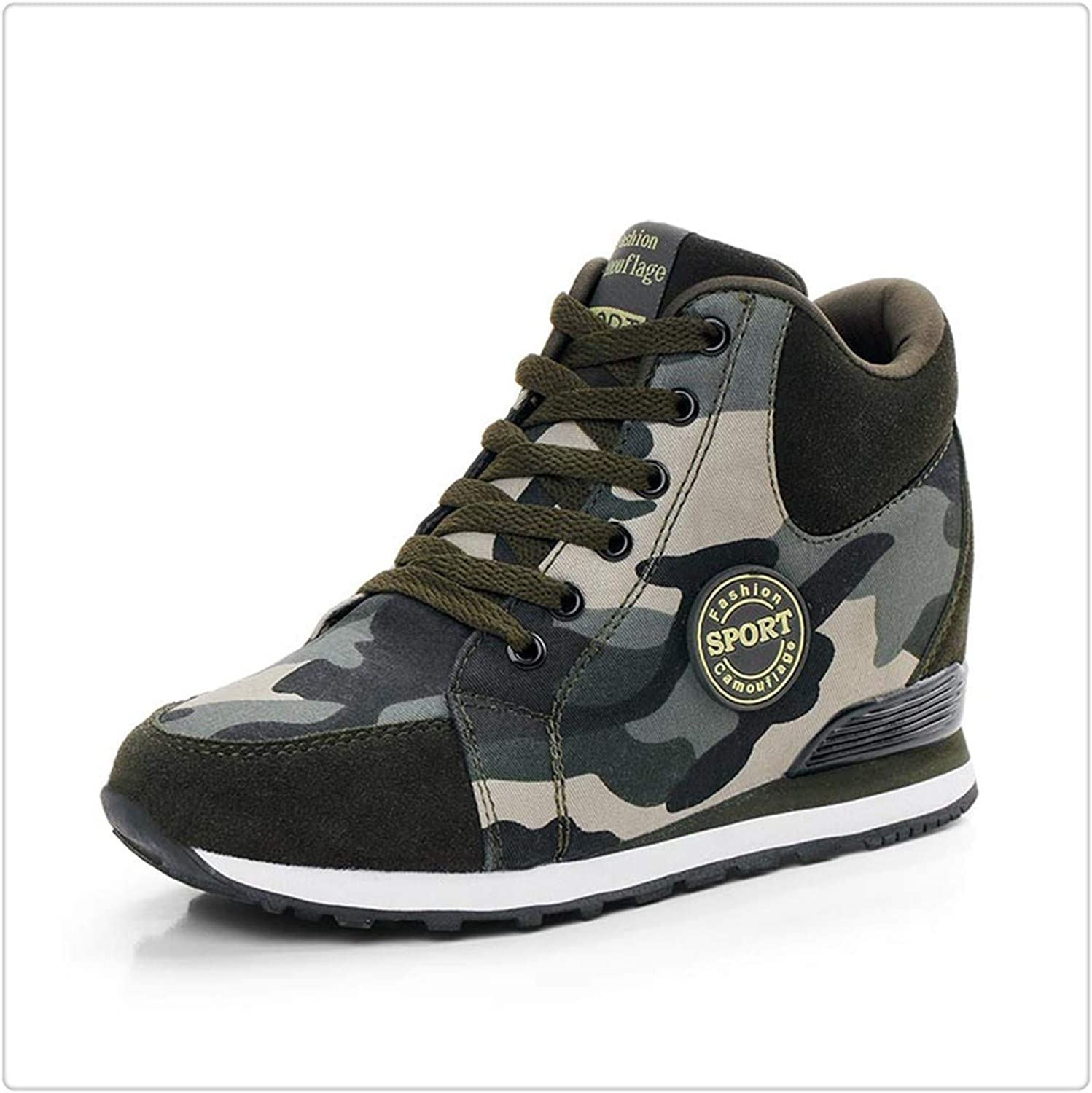 ANZLOU& Women shoes Increased Camouflage high top Casual Canvas Sneakers Tenis Feminino