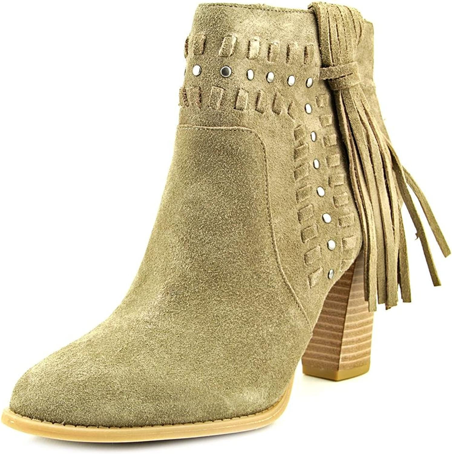 INC International Concepts Jade Women Round Toe Suede, Warm Taupe, Size 8.5