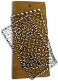 Hellfire Bushcraft Grill Stainless Steel Campfire Cooking Grate (2-Pack) Portable Camping Grate for Fire Cooking BBQ - Can...