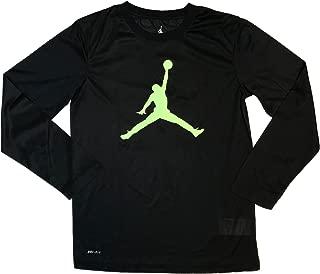 Nike Jordan Youth Boys Jumpman Long Sleeve Shirt Black/Red