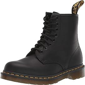 DR MARTENS Womens 1460 Serena Originals Core Ben Faux Fur Leather Boots Black Wyoming 8.5