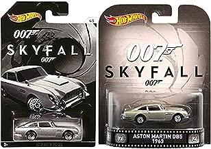 James Bond Exclusive Hot Wheels Set 2015 & SKYFALL Retro Entertainment Die-Cast Cars Aston Martin DB5 Model - Daniel Craig Edition