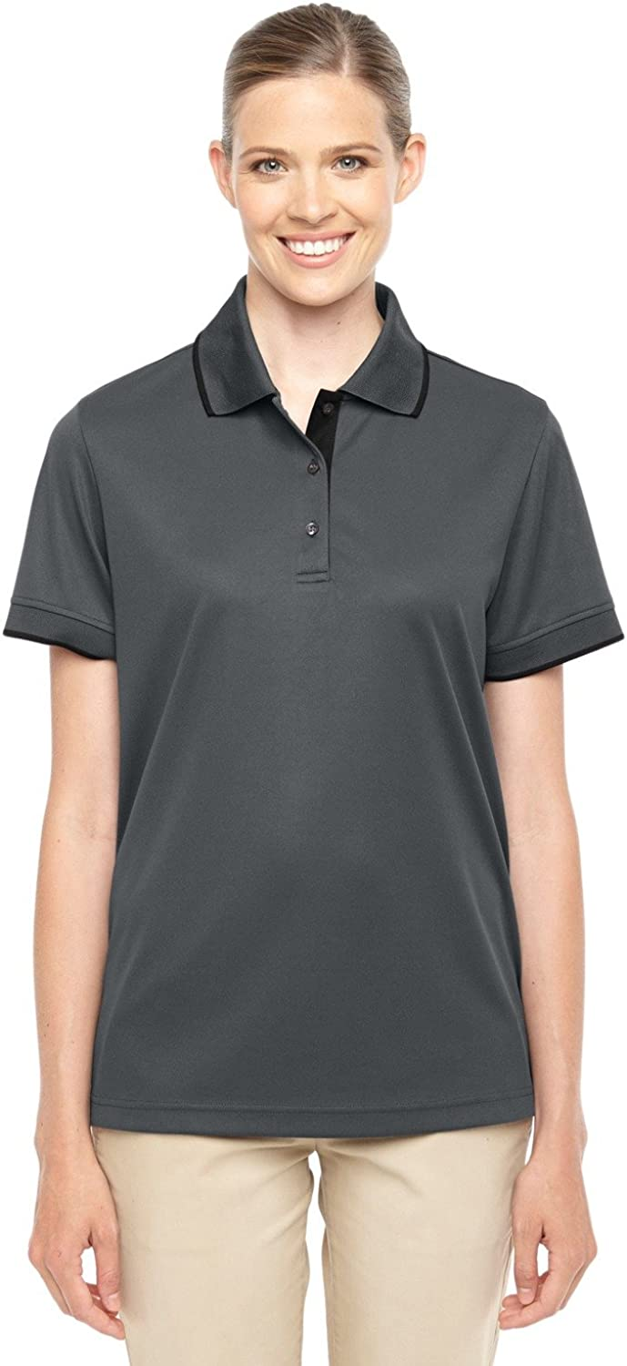 Ash City - Core 365 Motive Performance Pique Polo with Tipped Collar (78222) -CARBON/ BLK -L