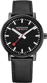 Mondaine - Evo2 - Reloj de Cuero Negro para Hombre y Mujer, MSE.40121.LB, 40 MM