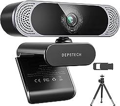 4K Webcam, 2021 DEPSTECH HD 8MP Sony Sensor Autofocus Webcam with Microphone, Privacy Cover and Tripod, Plug and Play USB ...