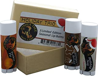 Joshua Tree Lip Balm - Holiday Trio Gift Set (Holiday Nogg, Ginger Bread and Punkin Pie)