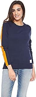 Calvin Klein Women's 8719113740-Blue Pullover Tops
