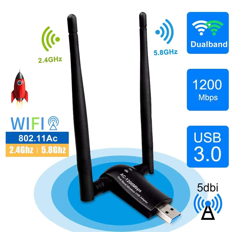 sumgott USB WiFi 1200Mpbs Antera Adaptador WiFi USB 3.0 ...