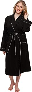 Women's Terry Cloth Kimono Spa Bath Robe w/Piping