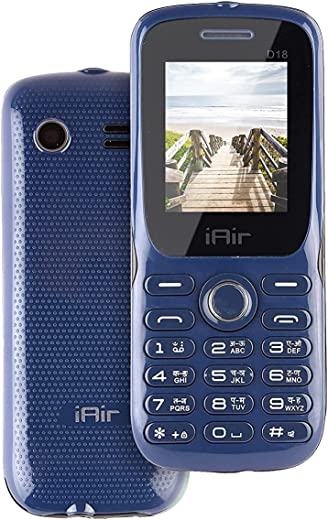 IAIR Basic Feature Dual Sim Mobile Phone with 1200mAh Battery, 1.7 inch Display Screen, 0.8 mp Camera in Navy Blue Color (IAIRFPD18, Navy Blue)