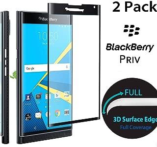 Stouch 3D Full Cover Tempered Glass Screen Protector for BlackBerry Priv - Black