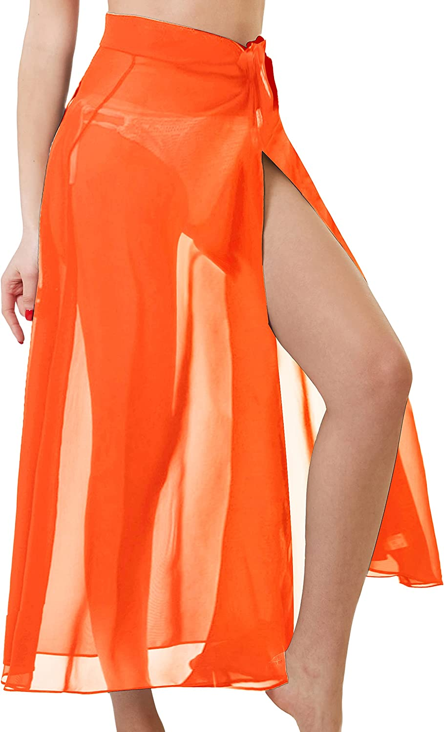 Sarong Swimsuit Cover Ups for Women Sheer Bathing Suit Beach Skirt Maxi Wrap