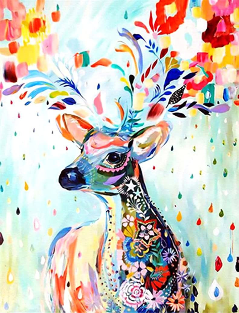 21secret 5D Diamond Colorful Deer Animal Diy Painting Cross Stitch Home Decor Embroidery Kit