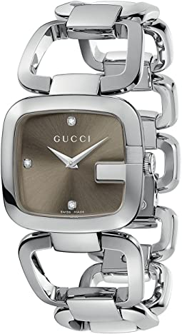 Gucci - G-Gucci 32mm Stainless Steel Bracelet with Diamonds Watch-YA125401