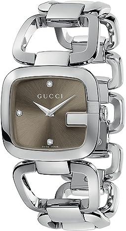 Gucci - G-Gucci 32mm Stainless Steel Bracelet with Diamonds Watch-YA125401