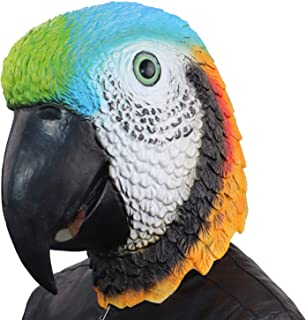 ifkoo Novelty Parrot Mask Latex Rubber Animal Bird Head Mask for Halloween Cosplay Costume Party Props