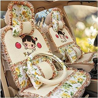 JKHOIUH Protector universal del cinturón de seguridad de seda de hielo - El mejor protector antideslizante de los asientos del automóvil Accesorios de dibujos animados for el automóvil Cubierta del as