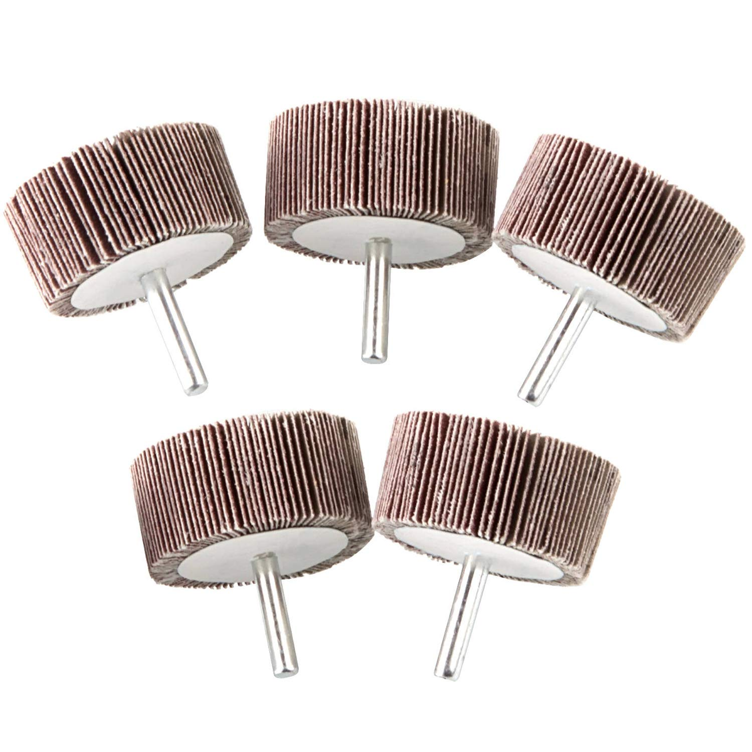 5 Pack 2x1x 1 4 inch Shank Grit Aluminum Wheels Popular brand in the world Flap Mounted 80 All items in the store