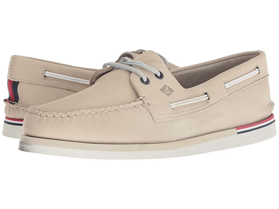 Sperry A/O 2-Eye Nautical Leather (Cement Leather) Men