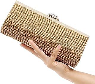 Shoulder Bag Diamond Evening Bag Ladies Banquet Bag Clutch Purse Handbag Handbag Clutch (Color : Gold)