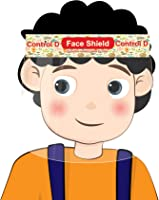 Control D 3 Kids Face Shield Isolation Mask for Eyes Nose Full Frontal Protection Child Shield Safety Visor (Pack of 3)