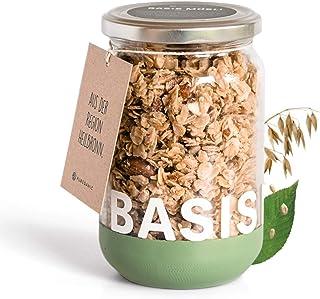 PUREGANIC Basis Granola Müsli (300g)   Ohne raffinierten Zucker, ohne Palmöl, vegan, laktosefrei   Knusper-Müsli mit Xylit...