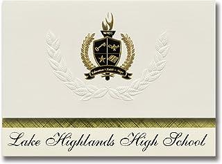 Signature Ankündigungen Lake Highlands High School (Dallas, TX) Graduation Ankündigungen, Presidential Stil, Elite Paket 25 Stück mit Gold & Schwarz Metallic Folie Dichtung B078VF9NKP  Bevorzugte Boutique