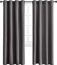 پرده های خاموشی WONTEX عایق حرارتی با پرده های گرمی برای اتاق خواب ، 52 84 84 اینچ ، خاکستری ، 2 صفحه